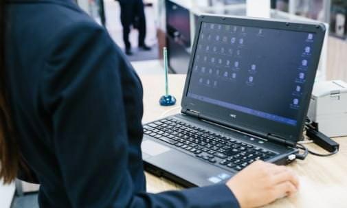 パソコン画面の写真